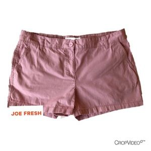 Joe Fresh pink shorts, size 14
